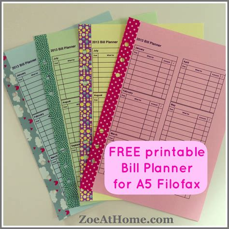 printable filofax personal year planner free pdfs 171 zoeathome com