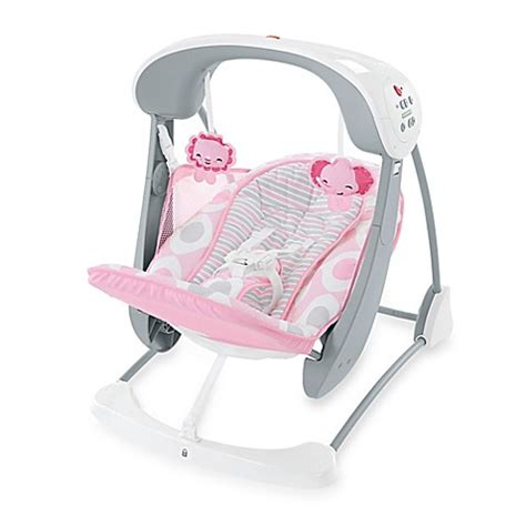 pink swing seat fisher price 174 deluxe take along swing and seat in pink