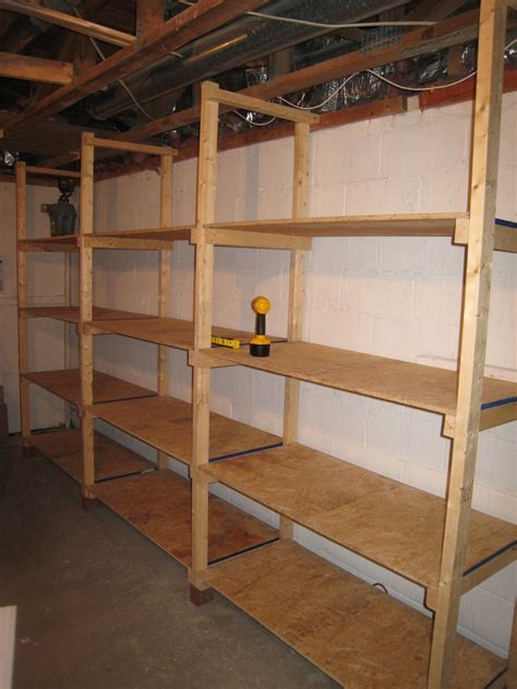 wood shelf designs garage