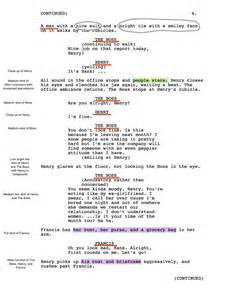 shooting script template word shooting script hank the