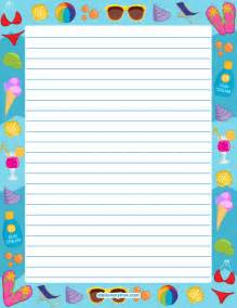 summer writing paper template free printables at museprintables