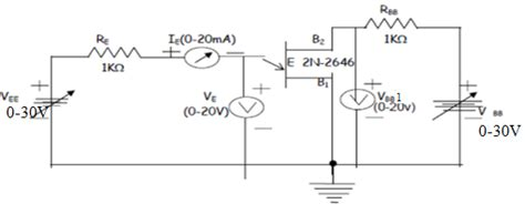 transistor characteristics experiment electronic devices and circuits lab notes uni junction transistor ujt characteristics