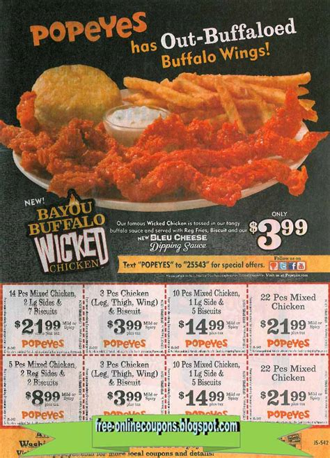 popeyes printable coupon special printable coupons 2018 popeyes chicken coupons