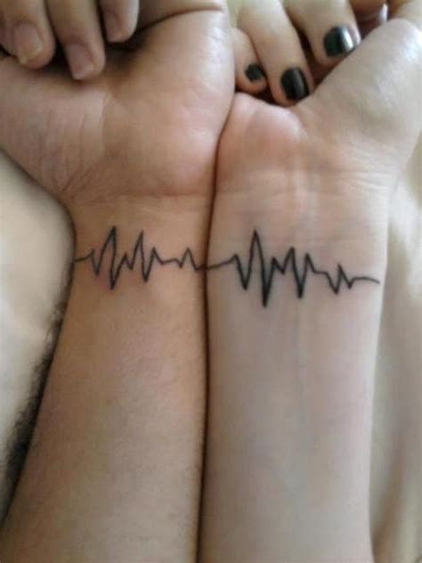 couple tattoo heartbeat heart beat one for both couple tattoo best tattoo ideas