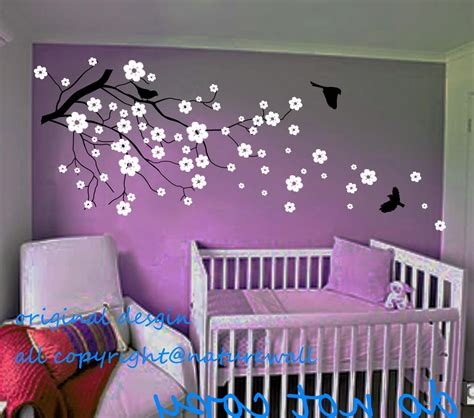 Purple Wall Decals For Nursery Baby Nursery Decals Cherry Blossom Wall Decals By Naturewall