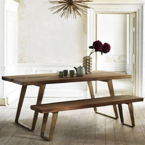 Dining Tables With Benches And Chairs Wooden Dining Tables And Benches Homegirl