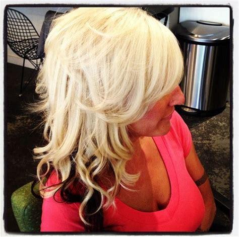 platinum hairstyles with some brown platinum blonde with dark brown underneath hair by deona