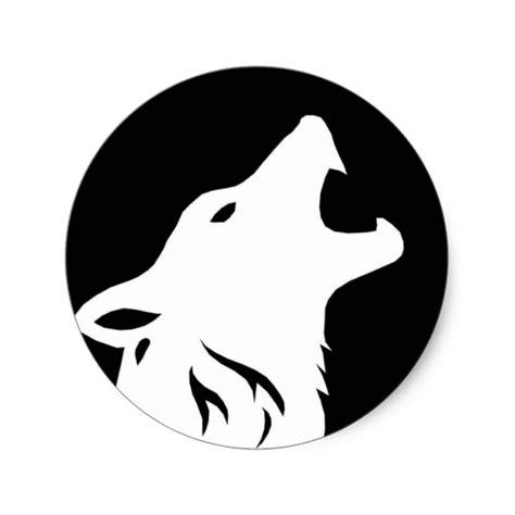 Howling Sticker howling wolf stickers zazzle
