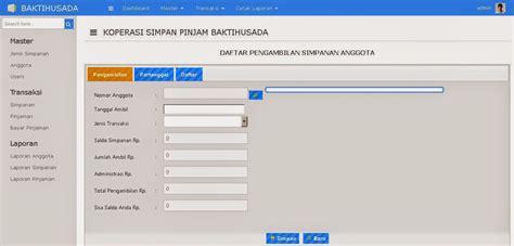 Aplikasi Software Koperasi 3in1 Tilan Baru Bisa Custom source code sistem informasi koperasi berbasis web pusat source code aplikasi php