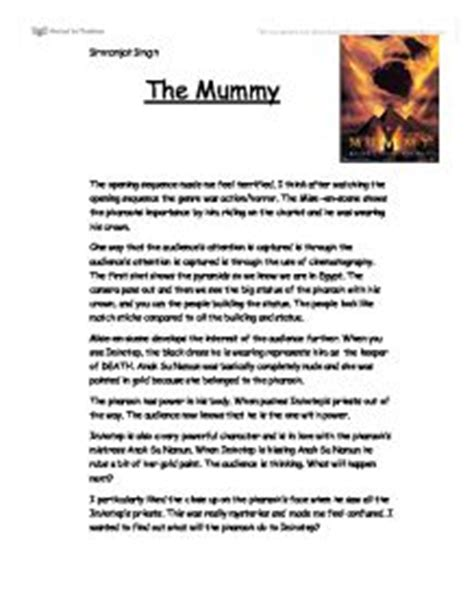 gladiator film review gcse film review of quot the mummy quot the opening sequence made me