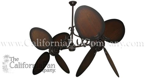 dual motor ceiling fan ii ceiling fan with 50 inch distressed