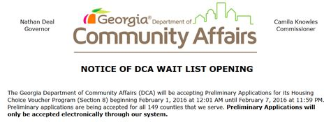 georgia department of community affairs section 8 47 000 apply to georgia dca for housing vouchers in first