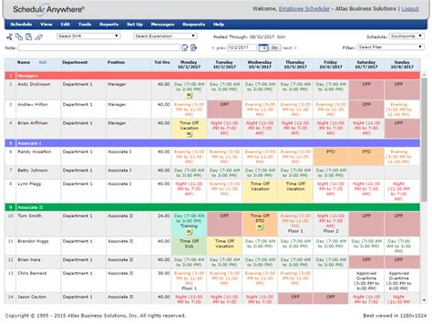 online employee scheduling work schedule software