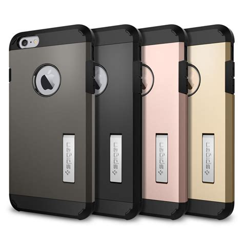 Spigen Shockproof Iphone 6 Plus Iphone6 Hardcase Iphone 6plus spigen slim armor shockproof with kickstand for iphone 6s 6 plus gold ebay