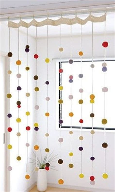 Diy Beaded Door Curtains Pom Pom Door Curtain Archives Danielle Diy