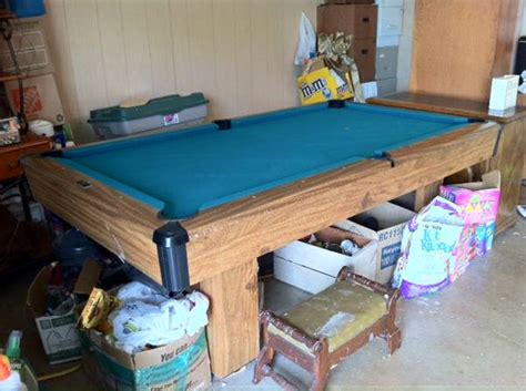 brunswick bristol pool table espotted