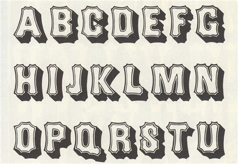 printable african fonts alphabet letters in different styles to print graffiti