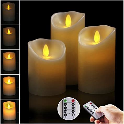 Big House Flickering Flameless Candles with Timer Remote