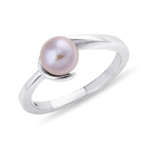 klenota silver ring with pearl sterling silver rings