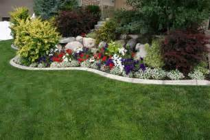 bloombety annual flower bed designs with colorful