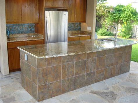 Outdoor Kitchen Tile by Outdoor Kitchen Tile Back Splash Bar Tile Granite