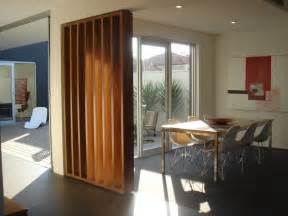 awesome unique modern wood partition dining interior