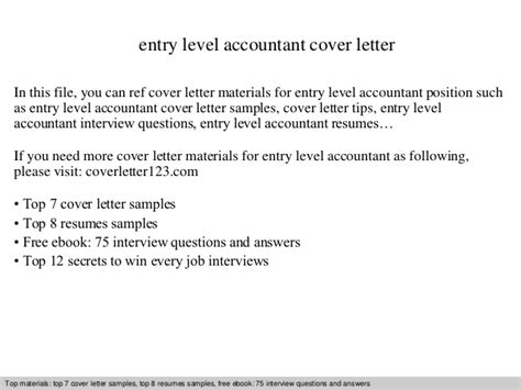 entry level accountant cover letter entry level accountant cover letter