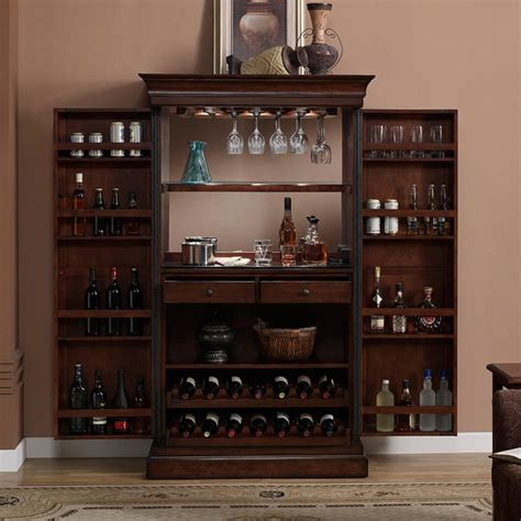 heights home bar wine cabinet