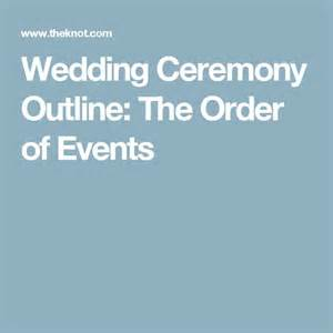 Wedding Processional Order Template by 25 Best Ideas About Wedding Ceremony Outline On
