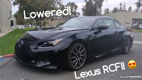 lexus rcf lowered lowered lexus rcf youtube