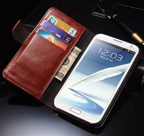 note 2 retro pu leather phone case for samsung galaxy note