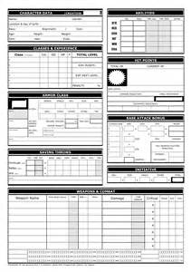 d d 3 5 templates show your character sheet designs