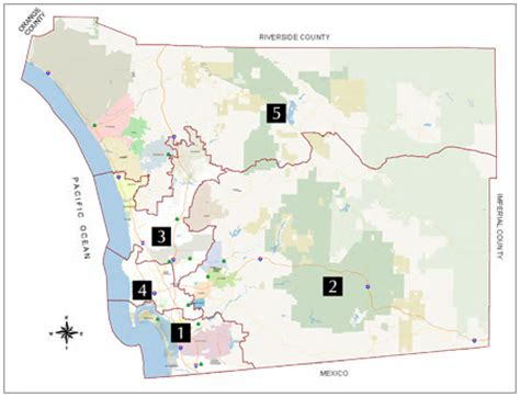 County Of San Diego Records District Map