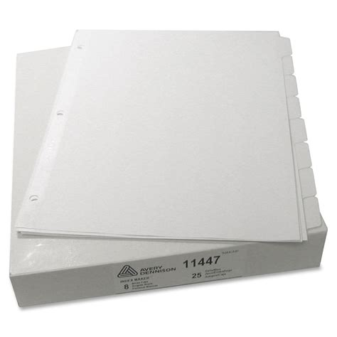 avery template 11447 avery index maker clear label divider ld products