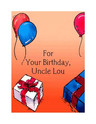 printable uncle cards printable birthday cards uncle image search results