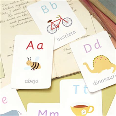 spanish alphabet flashcards printable early learning printables for preschool kindergarten
