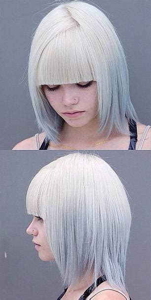 hairstyles if silver white futuristic hair mane interest