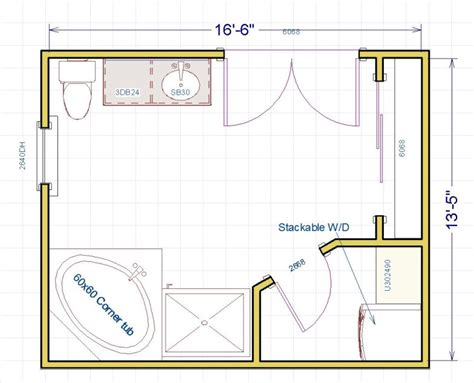 bathroom layout does anyone have any ideas for this master bath layout i