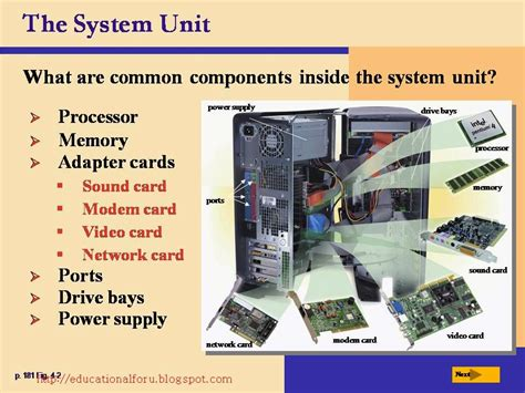 what is a in unit education4all discovering computers the components of