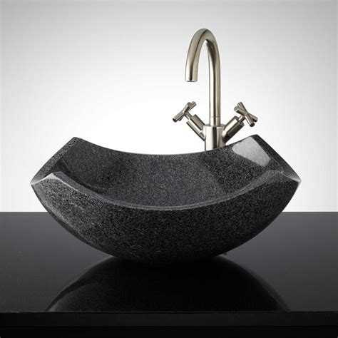 stone vessel bathroom sinks curved origami polished granite vessel sink vessel sinks