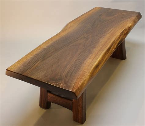 black walnut coffee table handmade black walnut live edge coffee table by j r
