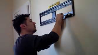 How To Install A Wall Mount Tv Bracket How To Hang Tv On Wall Mount Review Youtube