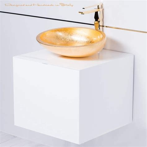 20 inch vanity sink combo 20 inch white lacquer bathroom vanity with gold vessel