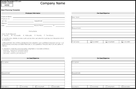 goal planner template goal planning template sle templates sle templates