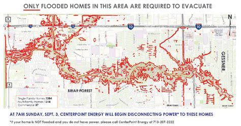 houston evacuation map update centerpoint responders go door to door for