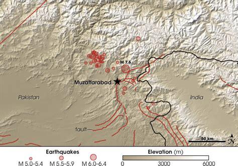 earthquake zones in pakistan muzaffarabad map