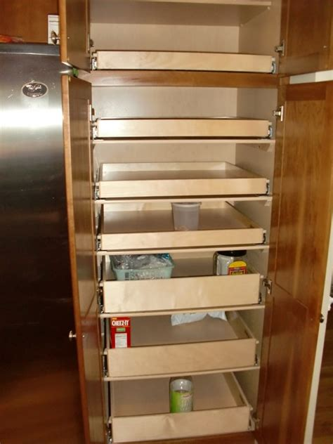 kitchen cabinet slide out organizers cabinet pantry pull out shelves boston by shelfgenie