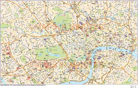 printable london road map digital vector map of london in illustrator editable