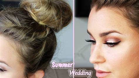 get ready with me wedding guest hair makeup youtube get ready w me summer wedding hair makeup beauty