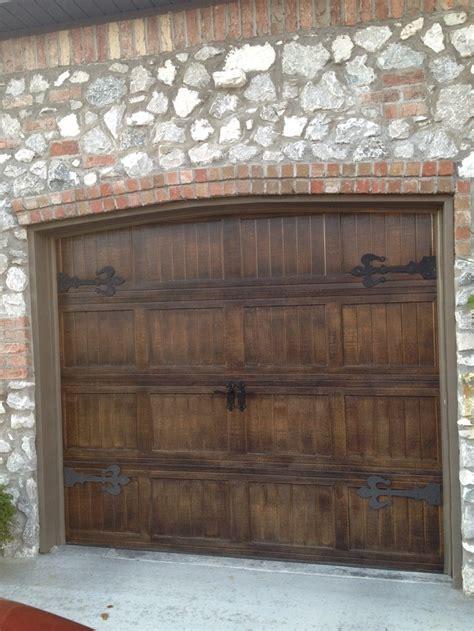 metal garage doors painted    wood  fluer de